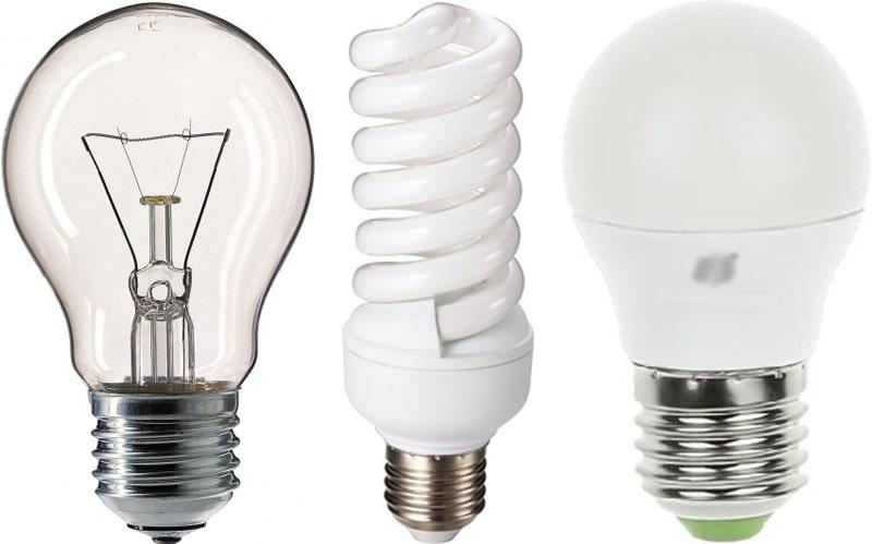 Лампы 3 вида