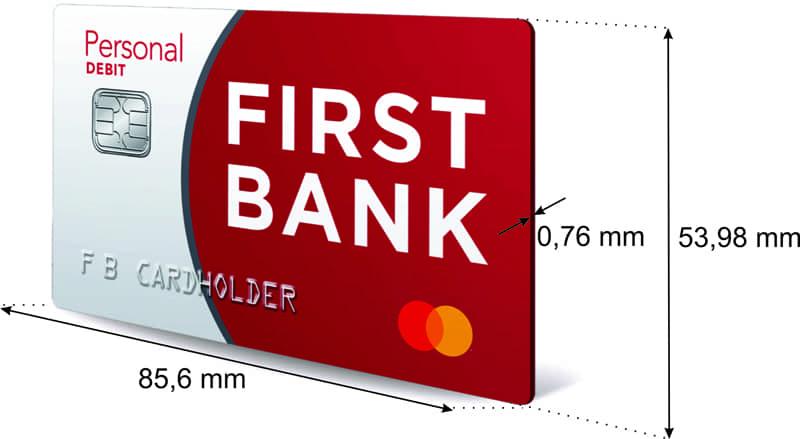 Размер банковской карты