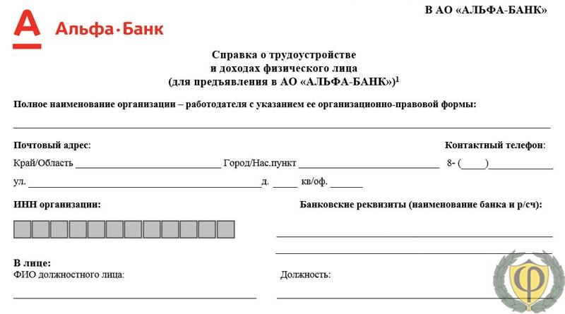 Заявка на кредит одобрена альфа банк