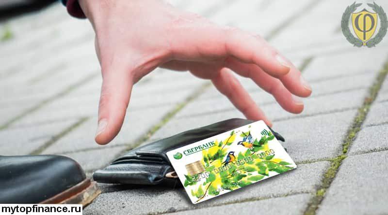 Что делать если потеряли банковскую карту Сбербанка с деньгами?