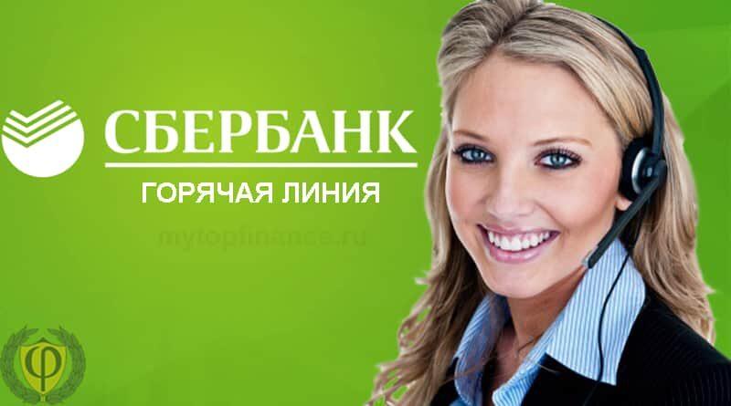Горячая линия Сбербанка: бесплатный телефон техподдержки.